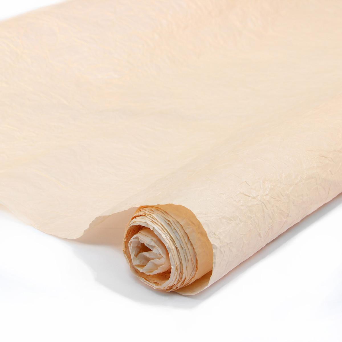 Бумага упаковочная Veld-Co Эколюкc, цвет: персиковый, серебристый, 70 см х 5 м44080Бумага Veld-Co Эколюкc - это универсальный материал дляупаковки подарков и оформления букетов. Она достаточноплотная и в тоже время пластичная. Благодаря органичнойфактуре, великолепно ложится и на нестандартные формы(круглые, овальные). Эта бумага хорошо комбинируется с другими материалами. Её можноиспользовать в качестве декоративных элементов. К ней легко подобратьаксессуары - подойдут натуральные шнуры, рафия, ленты (репсовая,шёлковая, хлопковая). Благодаря этому материалу - мастер выполнитлюбую задачу, поставленную перед ним. Ко всему прочему- бумагу в рулоне удобнее хранить, использовать,транспортировать.