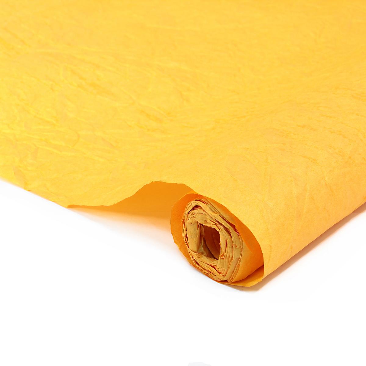 Бумага упаковочная Veld-Co Эколюкc, цвет: шафран, золотистый, 70 см х 5 м44137Бумага Veld-Co Эколюкc - это универсальный материал дляупаковки подарков и оформления букетов. Она достаточноплотная и в тоже время пластичная. Благодаря органичнойфактуре, великолепно ложится и на нестандартные формы(круглые, овальные). Эта бумага хорошо комбинируется с другими материалами. Её можноиспользовать в качестве декоративных элементов. К ней легко подобратьаксессуары - подойдут натуральные шнуры, рафия, ленты (репсовая,шёлковая, хлопковая). Благодаря этому материалу - мастер выполнитлюбую задачу, поставленную перед ним. Ко всему прочему- бумагу в рулоне удобнее хранить, использовать,транспортировать.