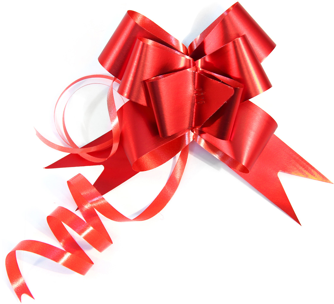 Набор упаковочных бантиков Veld-Co Бабочка, цвет: красный, 3 х 50 см, 10 шт veld co игровой набор с куклой торговый центр