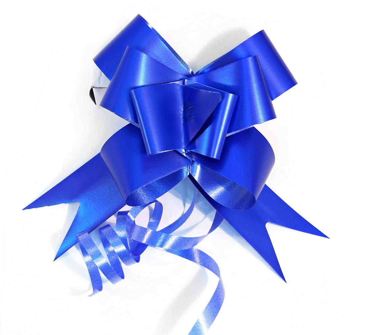 Набор упаковочных бантиков Veld-Co Бабочка, цвет: синий, 3 х 50 см, 10 шт набор упаковочных бантиков veld co бабочка цвет оранжевый 3 х 50 см 10 шт