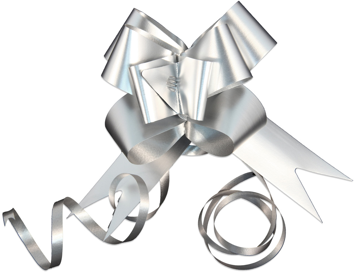 Набор упаковочных бантиков Veld-Co Бабочка, цвет: серебристый, 3 х 50 см, 10 шт44905Набор бантиков Veld-Co поможет вам в оформлении ваших творческих задумок. Изделия, изготовленные из ПВХ, помогут оформить подарок или подарочную упаковку. В наборе 10 бантиков и завязки для фиксации.Такой набор прекрасно подойдет для декора и оформления творческих работв различных техниках.
