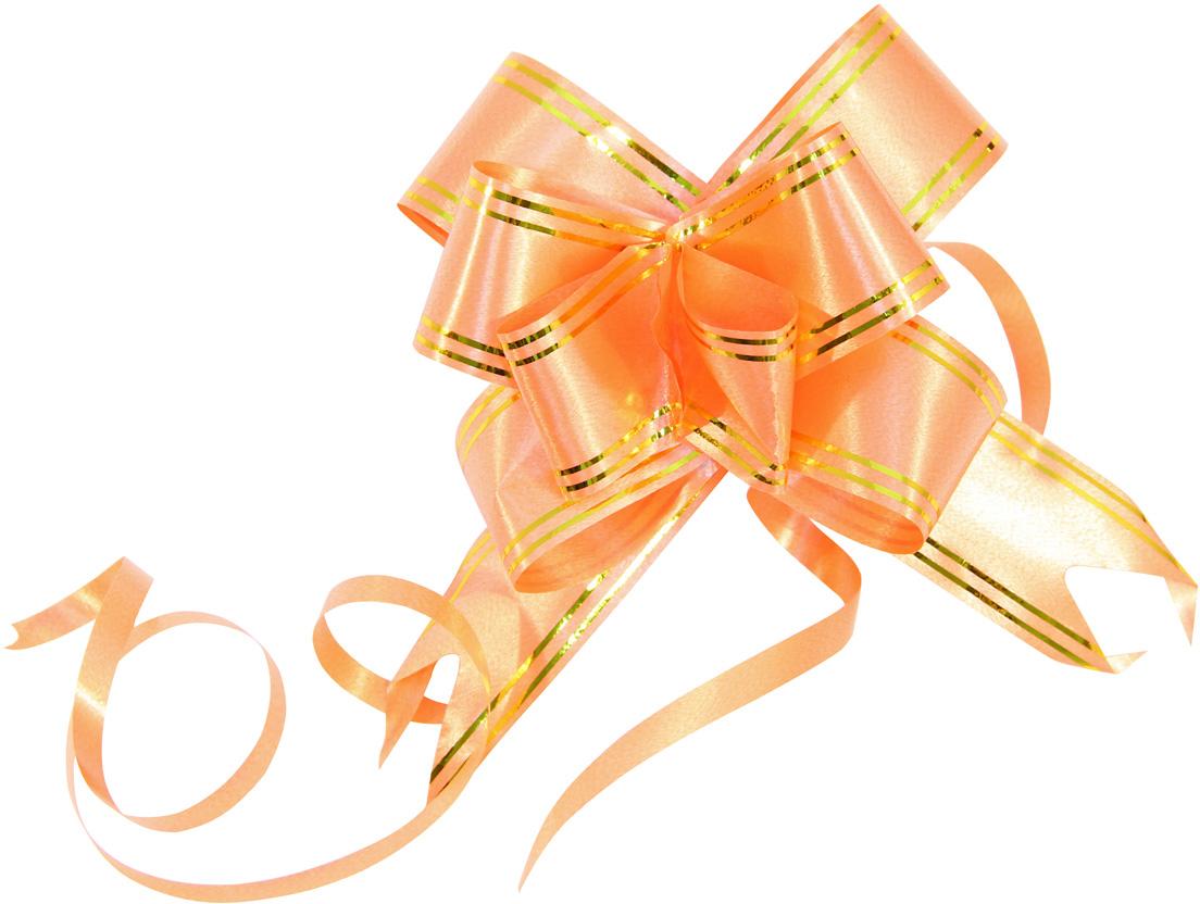 Набор упаковочных бантиков Veld-Co Бабочка, цвет: оранжевый, 3 х 50 см, 10 шт veld co игровой набор с куклой торговый центр