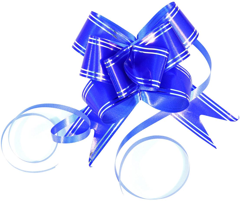 Набор упаковочных бантиков Veld-Co Бабочка, цвет: синий, серебристый, 3 х 50 см, 10 шт набор упаковочных бантиков veld co бабочка цвет оранжевый 3 х 50 см 10 шт