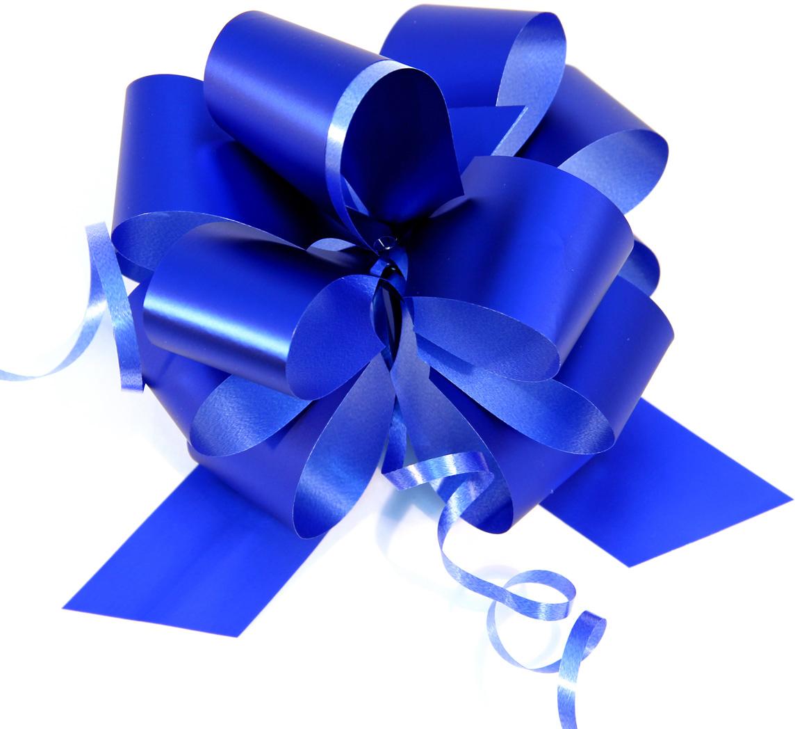Бант упаковочный Veld-Co Шар, цвет: синий, 3 х 100 см, 10 шт набор декоративных лент veld co 1 9 см х 3 м 30 шт