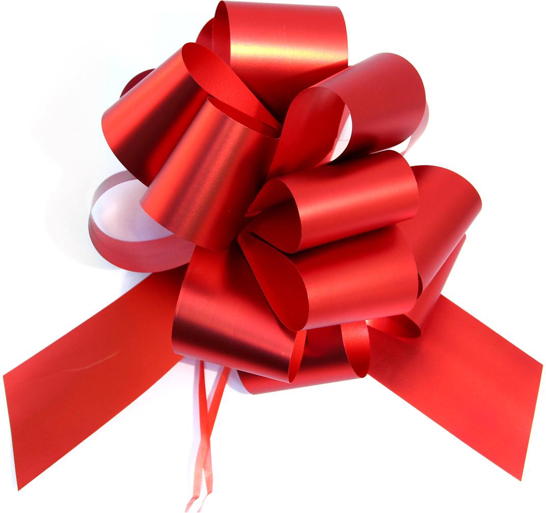 Бант упаковочный Veld-Co Шар, цвет: красный, 5 х 148 см, 10 шт набор декоративных лент veld co 1 9 см х 3 м 30 шт