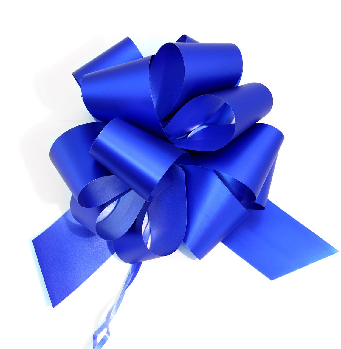 Бант упаковочный Veld-Co Шар, цвет: синий, 5 х 148 см, 10 шт набор упакокочных лент veld co цвет разноцветный 0 5 см х 4 м 6 шт