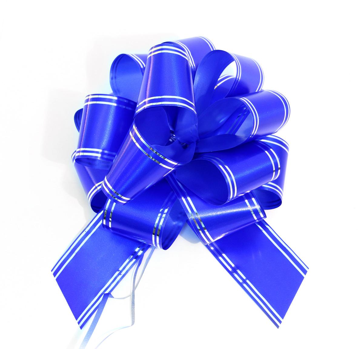 Бант упаковочный Veld-Co Шар, цвет: синий, 5 х 148 см, 10 шт44927Бант Veld-Co Шар, изготовленный из ПВХ, собираетсяодним движение (нетребуется особых навыков, чтобы за мгновение сделать шикарный бант длядекора подарка). Отлично держит форму, не боится влаги. Объемный,привлекательный, создает праздничное настроение.Окружите близкихлюдей вниманием и заботой, вручив презент в нарядном, праздничномоформлении!