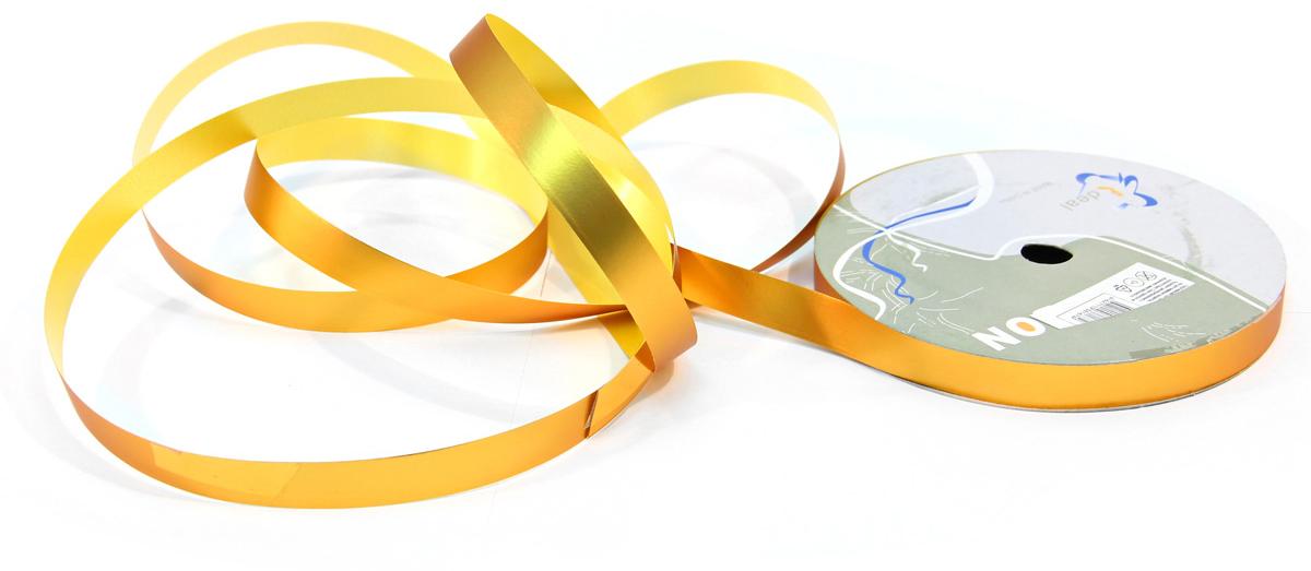Лента декоративная Veld-Co, цвет: золотистый, 1,2 см х 45 м набор декоративных лент veld co 1 9 см х 3 м 30 шт
