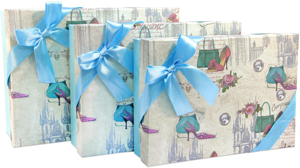Набор подарочных коробок Veld-Co Голубой, 3 шт набор подарочных коробок veld co нежный париж 3 шт