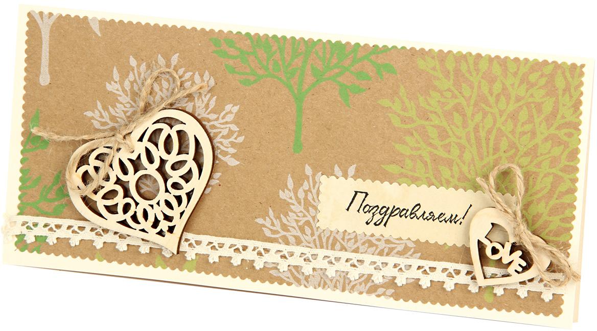 Открытка объемная Veld-Co Ключ от сердца, 21 х 10 см48089Объемная открытка в винтажном стиле, декорированная объемными элементами из ткани и дерева, станет не только отличным дополнением к вашему поздравлению, но и олицетворением ваших самых теплых чувств. Эта открытка обязательно сделает ваше поздравление самым запоминающимся.