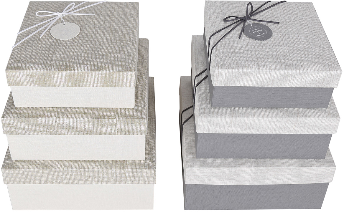 Набор подарочных коробок Veld-Co Оттенки серебра, с декором, 3 шт набор подарочных коробок veld co шоколад с магнитами цвет светло коричневый 3 шт