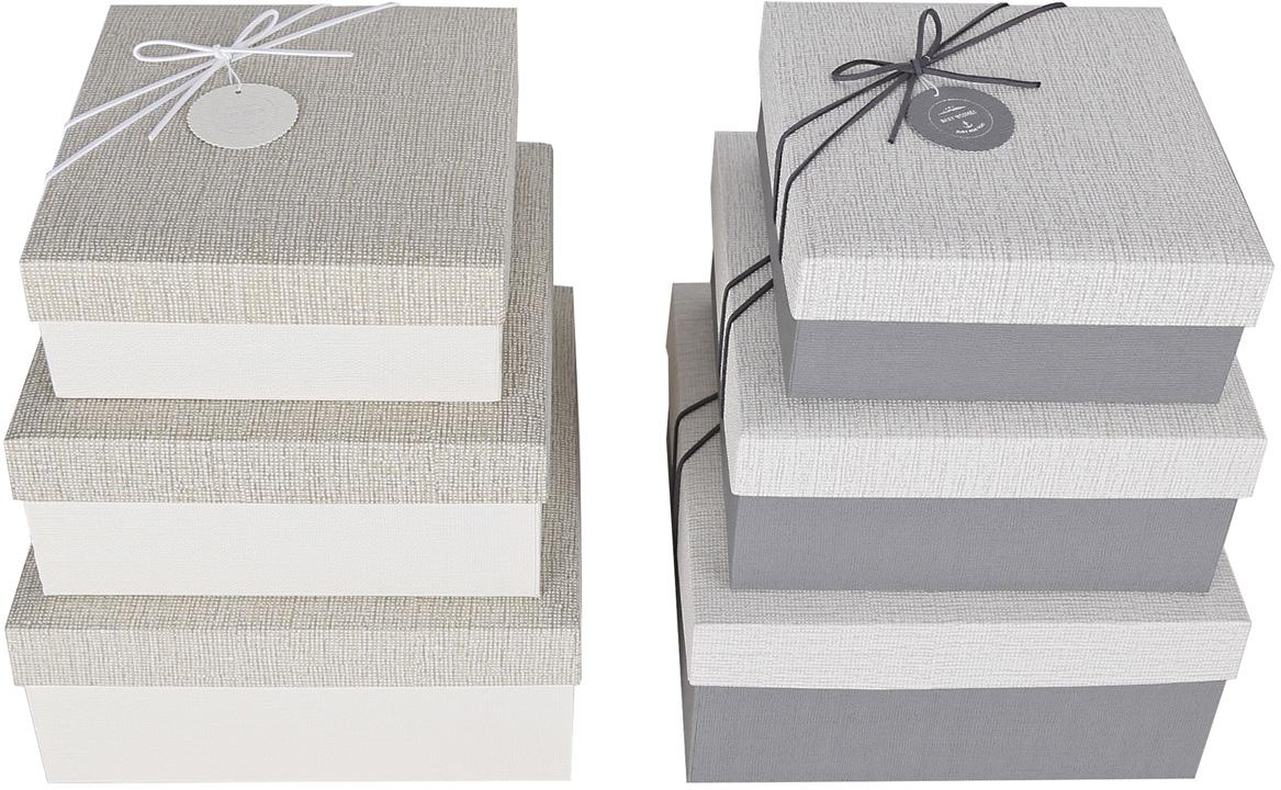 Набор подарочных коробок Veld-Co Оттенки серебра, с декором, 3 шт степлеры канцелярские veld co степлер