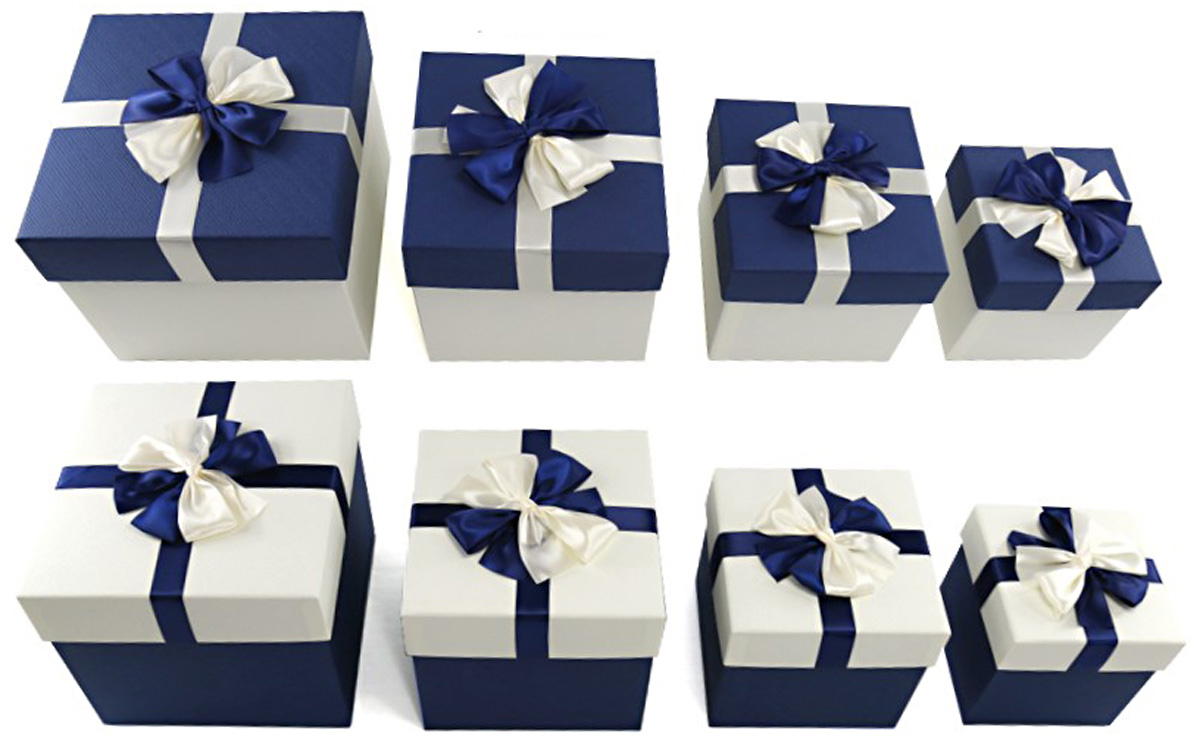Набор подарочных коробок Veld-Co Морские, с декором, 4 шт набор подарочных коробок veld co шоколад с магнитами цвет светло коричневый 3 шт