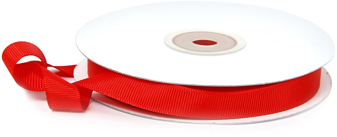 Лента декоративная Veld-Co, репсовая, цвет: красный, 1,2 см х 22 м надувной мяч veld co цифры 22 см