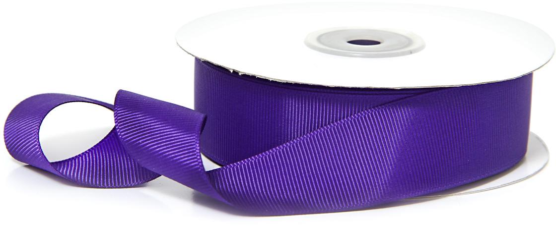 Лента декоративная Veld-Co, репсовая, цвет: синий, 2,5 см х 22 м набор упаковочных бантиков veld co 1 4 х 25 см 10 шт