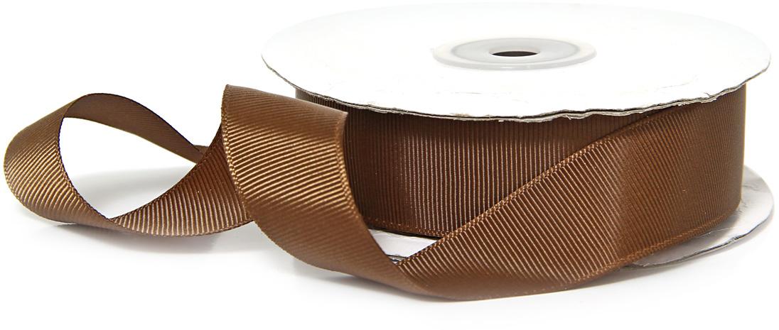 Лента декоративная Veld-Co, репсовая, цвет: темный шоколад, 2,5 см х 22 м набор подарочных коробок veld co шоколад с магнитами цвет светло коричневый 3 шт