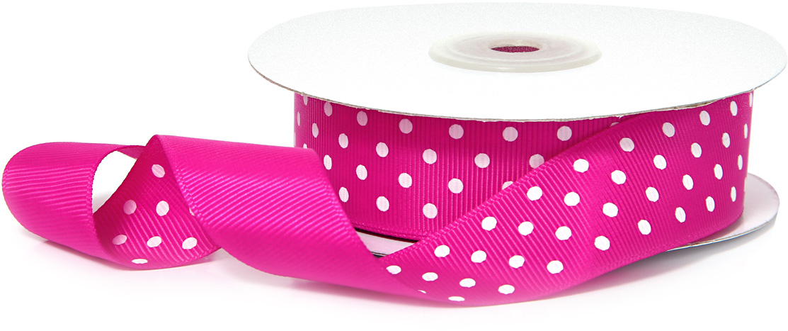 "Лента декоративная ""Veld-Co"", репсовая, цвет: розовый, 2,5 см х 22 м"