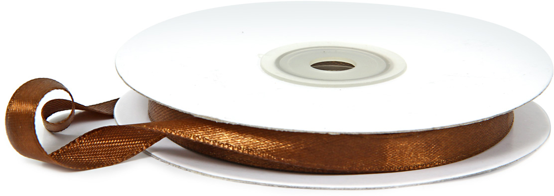 Лента декоративная Veld-Co, атласная, цвет: шоколадный, 0,9 см х 30 м степлеры канцелярские veld co степлер