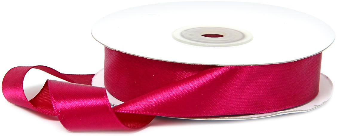 Лента декоративная Veld-Co, атласная, цвет: фуксия, 1,8 см х 30 м набор декоративных лент veld co 1 9 см х 3 м 30 шт