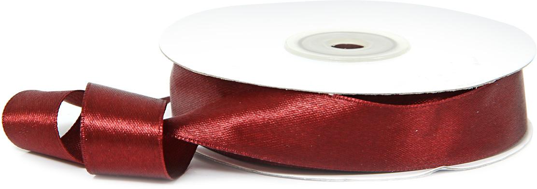 Лента декоративная Veld-Co, атласная, цвет: бордовый, 1,8 см х 30 м набор декоративных лент veld co парча металл 1 6 см х 3 м 30 шт