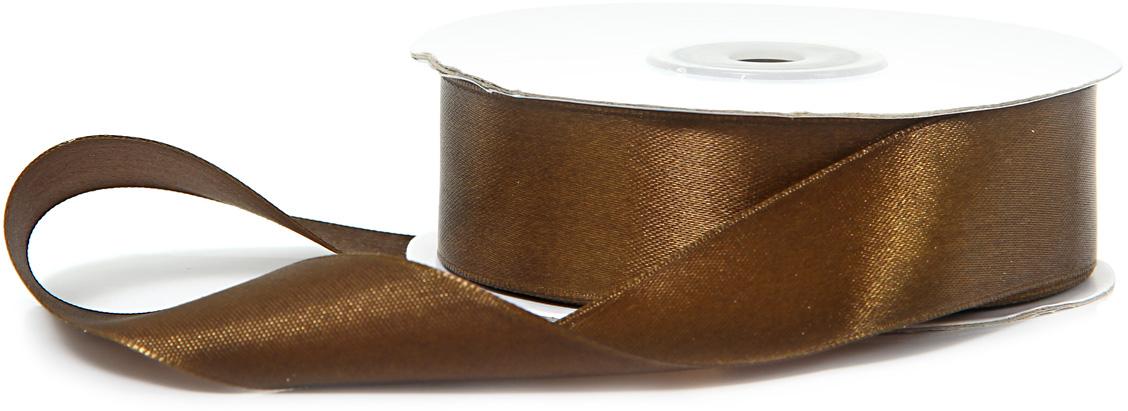 Лента декоративная Veld-Co, атласная, цвет: шоколадный, 2,5 см х 30 м набор подарочных коробок veld co грезы путешественника 11 шт