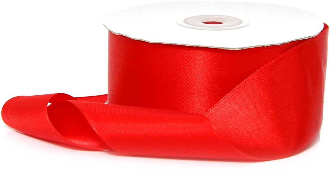 Лента декоративная Veld-Co, атласная, цвет: красный, 3,8 х 30 см аксессуары veld co набор переводных татуировок черепа