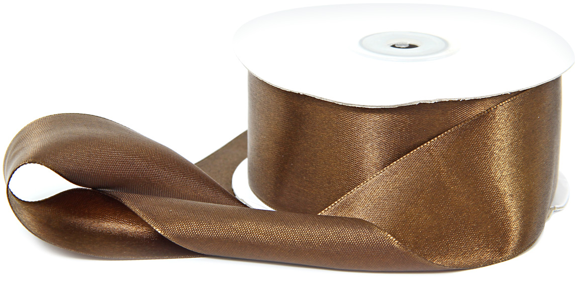 Лента декоративная Veld-Co, атласная, цвет: шоколадный, 3,8 х 30 см набор подарочных коробок veld co грезы путешественника 11 шт