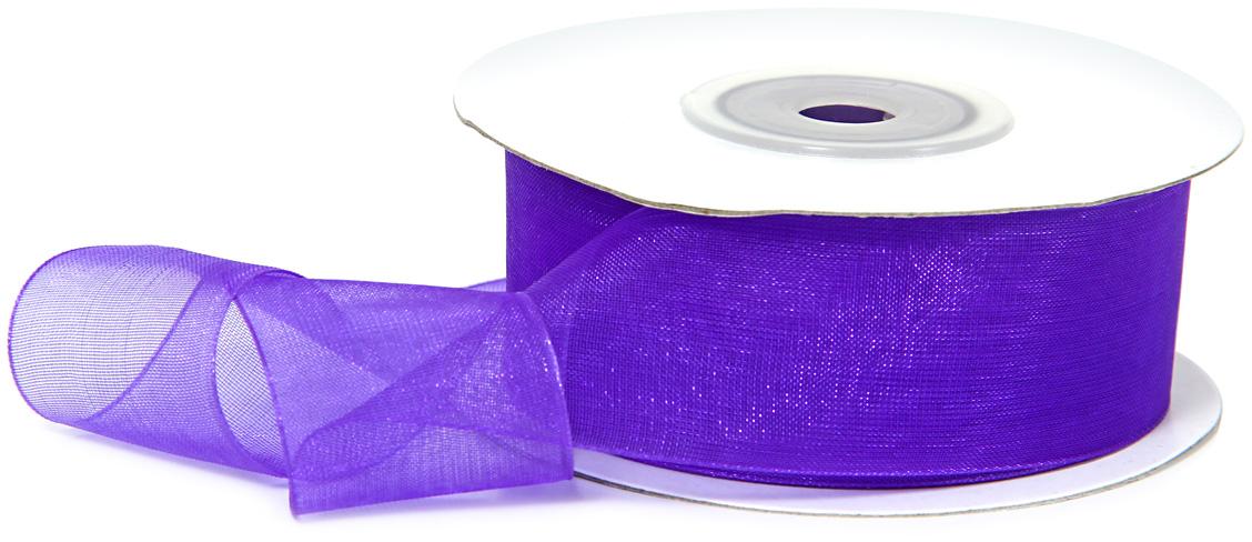 Лента декоративная Veld-Co, шифоновая, цвет: сапфировый, 2,5 см х 22 м степлеры канцелярские veld co степлер