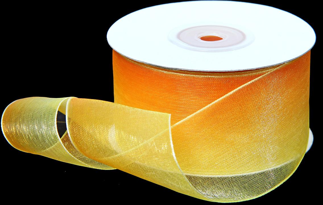 Лента декоративная Veld-Co, шифоновая, цвет: градиент желтый, 3,8 см х 22 м48858Декоративная лента Veld-Co предназначена для оформления подарочных коробок, пакетов. Кроме того, декоративная лента с успехом применяется для художественного оформления витрин, праздничногооформления помещений, изготовления искусственных цветов.Декоративная лента украсит интерьер вашего дома к любым праздникам.Ширина ленты: 38 мм.