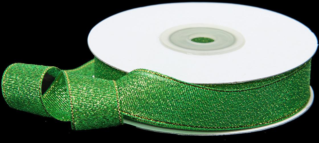 Лента декоративная Veld-Co, парчовая, цвет: зеленый, 1,8 см х 22 см лента декоративная brunnen цвет золото 1 5 х 300 см