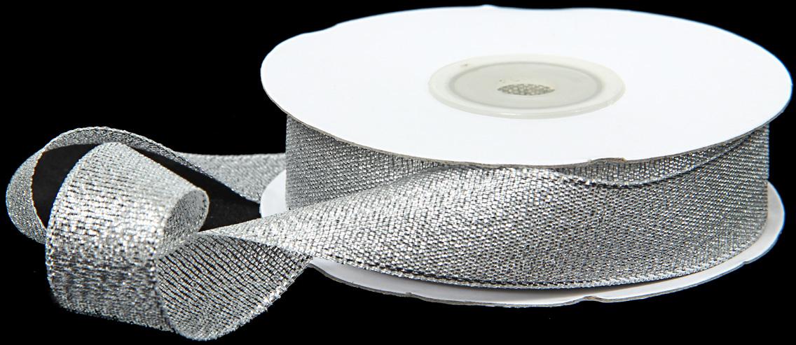 Лента декоративная Veld-Co, парчовая, цвет: серебристый, 1,8 см х 22 см надувной мяч veld co цифры 22 см