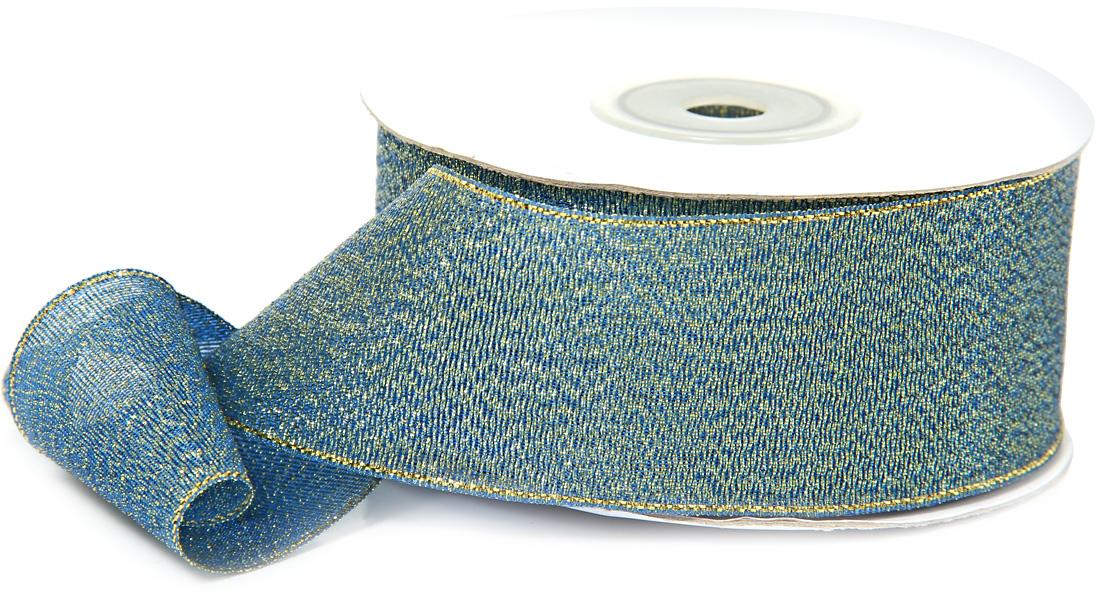 Лента декоративная Veld-Co, парчовая, цвет: синий, 3,8 см х 22 м48899Декоративная лента Veld-Co предназначена для оформления подарочных коробок, пакетов. Кроме того, декоративная лента с успехом применяется для художественного оформления витрин, праздничногооформления помещений, изготовления искусственных цветов.Декоративная лента украсит интерьер вашего дома к любым праздникам.Ширина ленты: 38 мм.
