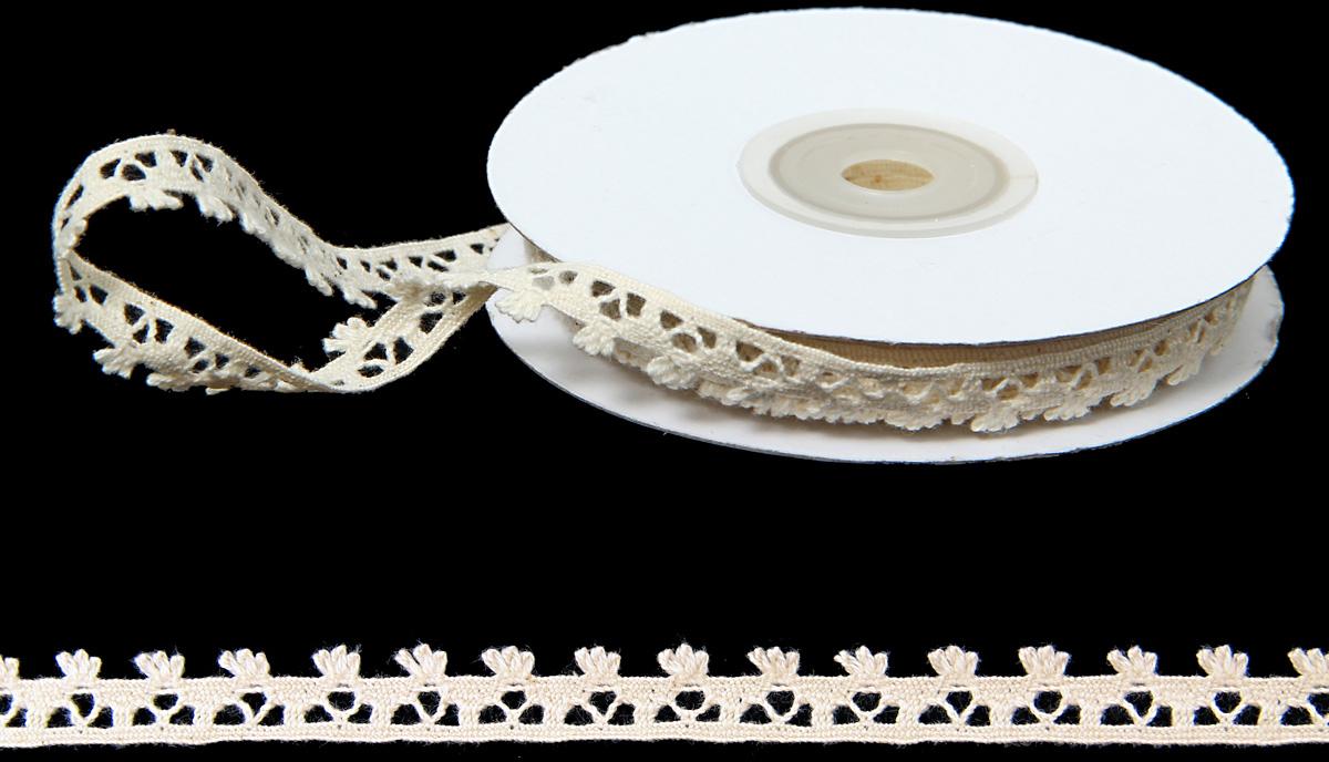 Лента декоративная Veld-Co Кайма, цвет: слоновая кость, 1 см х 10 м аксессуары veld co набор переводных татуировок черепа
