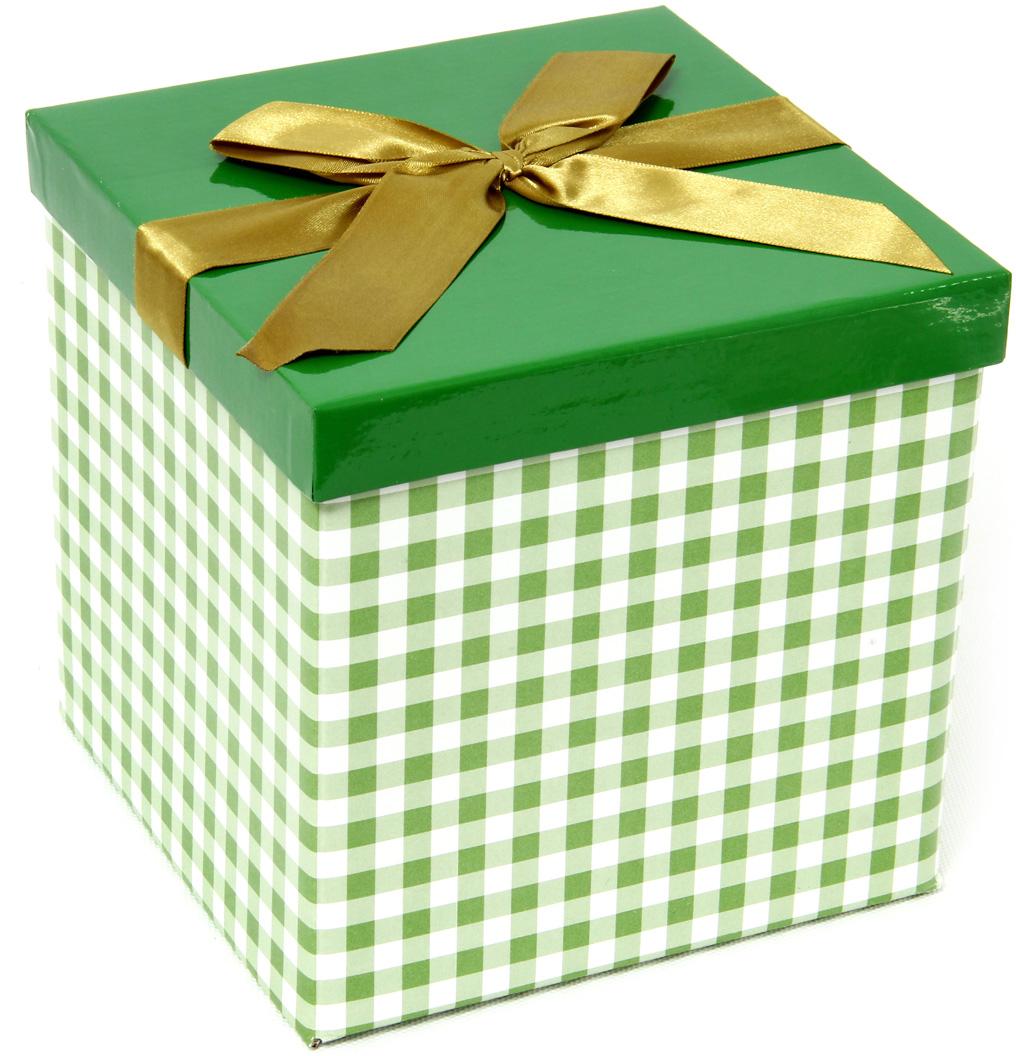 Коробка подарочная Veld-Co Giftbox. Трансформер. Шотландка зеленая, цвет: светло-зеленый, 17,5 х 17,5 х 17 см коробка подарочная veld co giftbox трансформер солнечное настроение цвет оранжевый 10 3 х 10 3 х 9 8 см