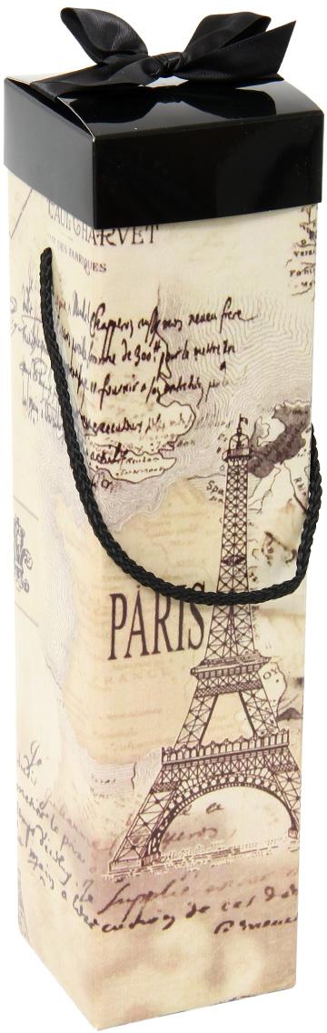 Коробка подарочная Veld-Co Giftbox. Трансформер. Paris, под бутылку, цвет: бежевый, 34,4 х 8,2 х 8,2 см коробка подарочная veld co свадебный бабочки цвет слоновая кость 18 х 18 х 26 см