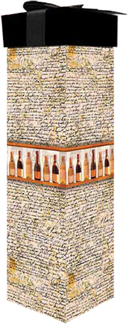 Коробка подарочная Veld-Co Giftbox. Трансформер. Винотека, под бутылку, цвет: бежевый, 34,4 х 8,2 х 8,2 см коробка подарочная veld co свадебный бабочки цвет слоновая кость 18 х 18 х 26 см