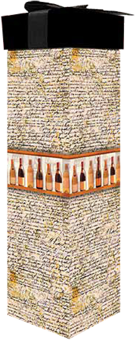 Коробка подарочная Veld-Co Giftbox. Трансформер. Винотека, под бутылку, цвет: бежевый, 34,4 х 8,2 х 8,2 см коробка подарочная veld co giftbox трансформер цветные колечки цвет белый 25 5 х 25 5 х 25 см