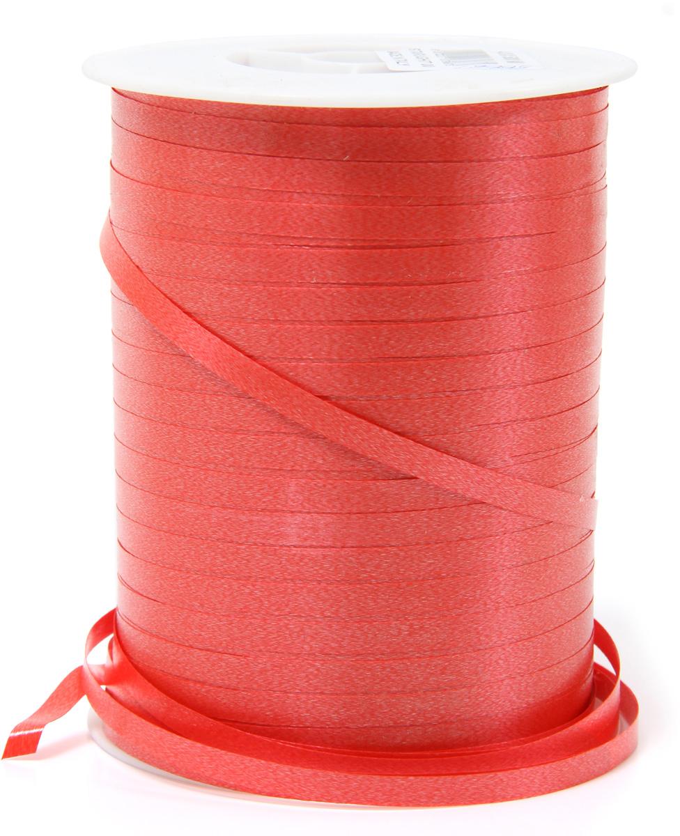 Лента полипропеленовая на бабине. Размер 0.48см х 500м красная