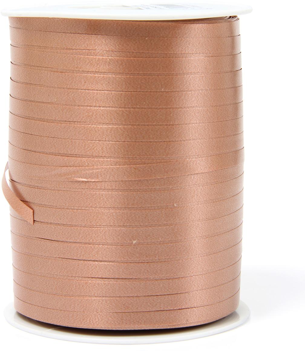 Лента декоративная Veld-Co, цвет: шоколадный, 0,48 см х 500 м коробка подарочная veld co свадебный бабочки цвет слоновая кость 18 х 18 х 26 см