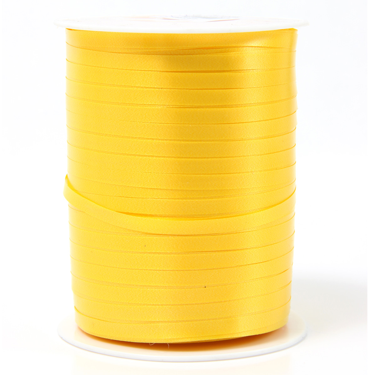 Лента полипропеленовая на бабине. Размер 0.48см х 500м желтая