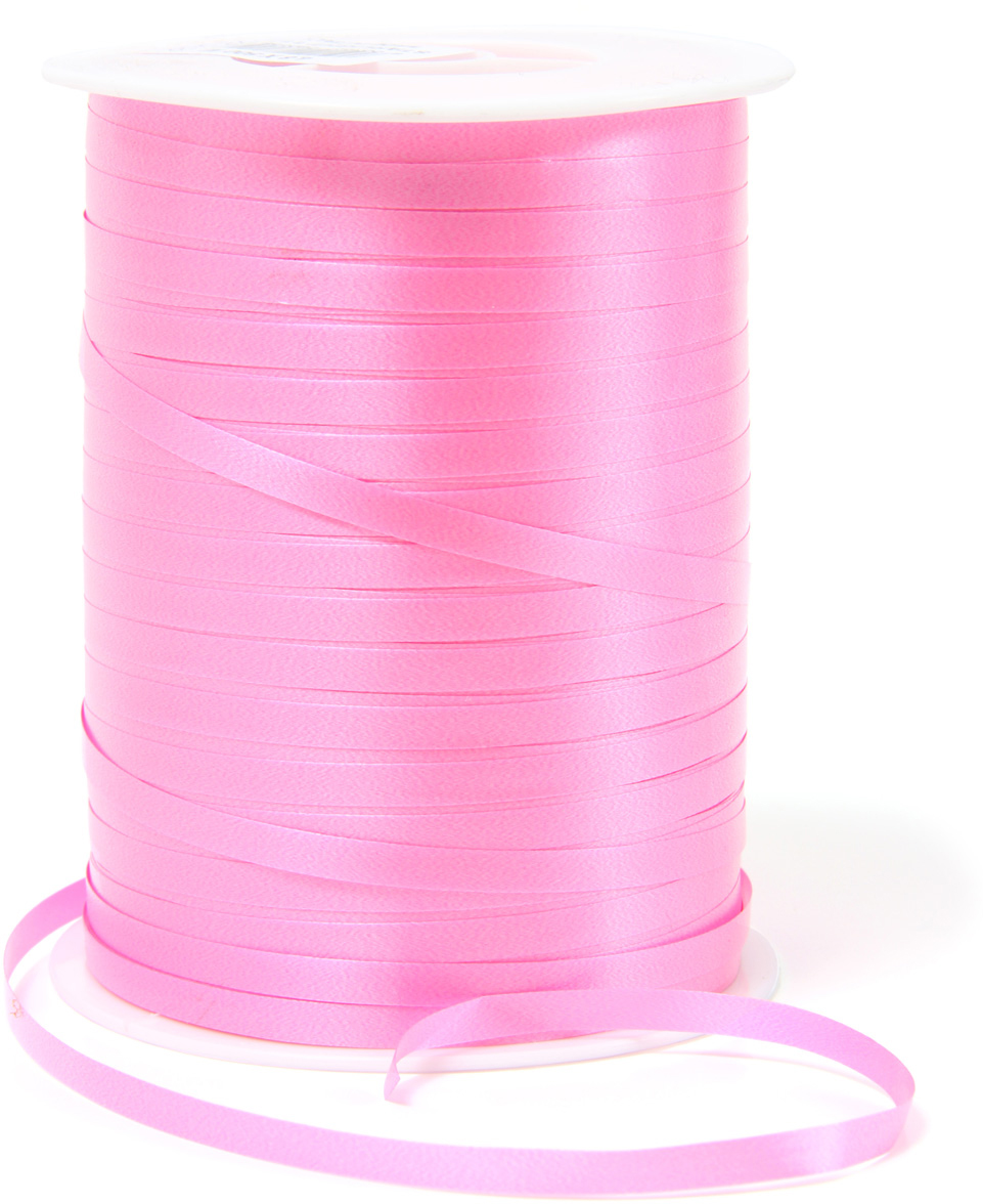 Лента полипропеленовая на бабине. Размер 0.48см х 500м ярко-розовая