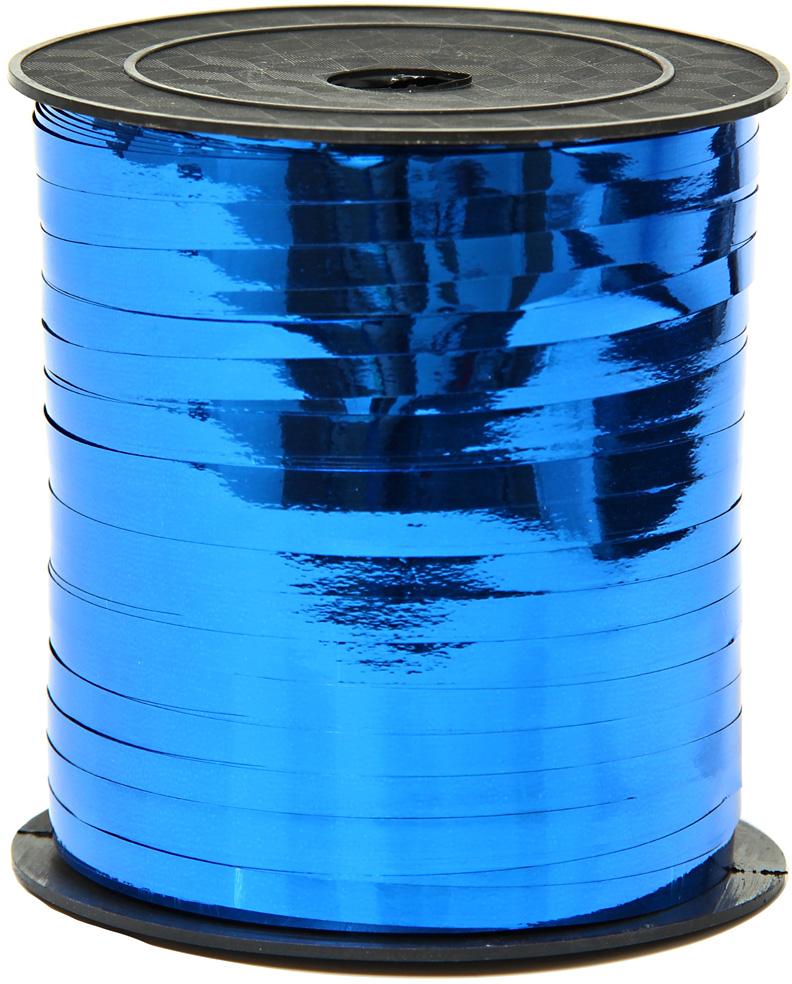 Лента декоративная Veld-Co, металлизированная, цвет: синий, 0,5 см х 225 м набор декоративных лент veld co 1 9 см х 3 м 30 шт