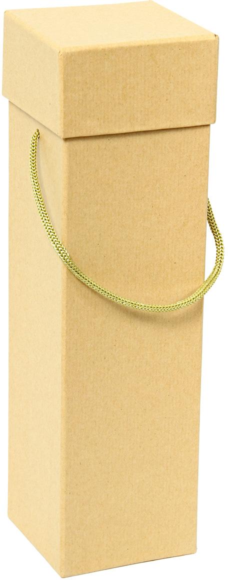 Коробка подарочная Veld-Co Крафт, под бутылку, цвет: бежевый, 9 х 9 х 33,5 см набор декоративных лент veld co 1 9 см х 3 м 30 шт