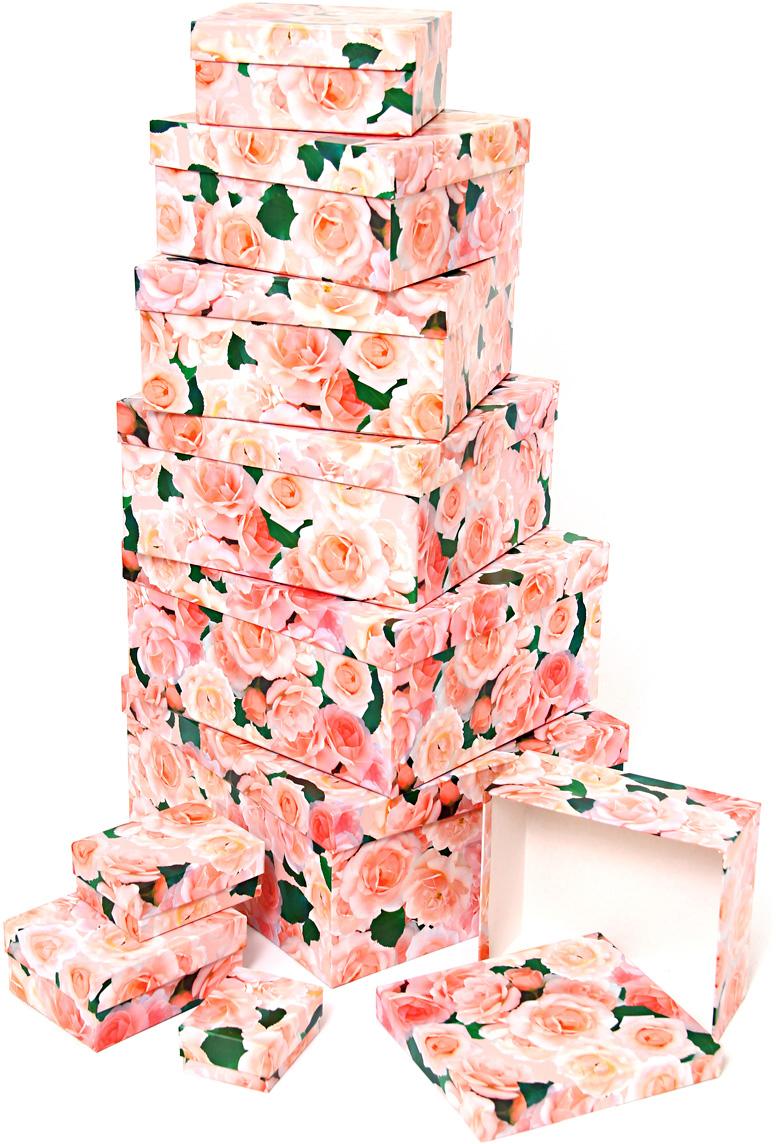 Набор подарочных коробок Veld-Co  Нежные розы , 10 шт -  Подарочная упаковка
