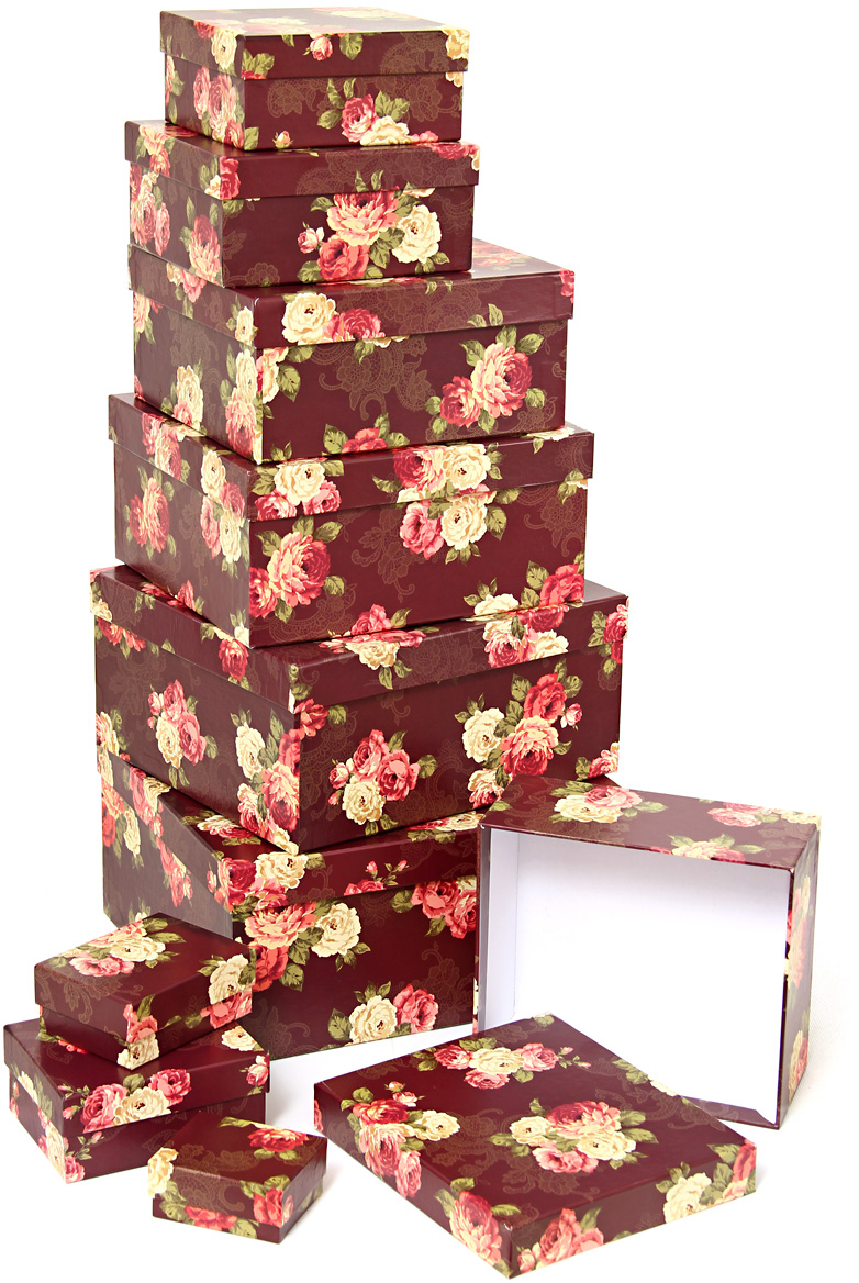 Набор подарочных коробок Veld-Co Цветочный принт, 10 шт veld co набор инструментов 43896