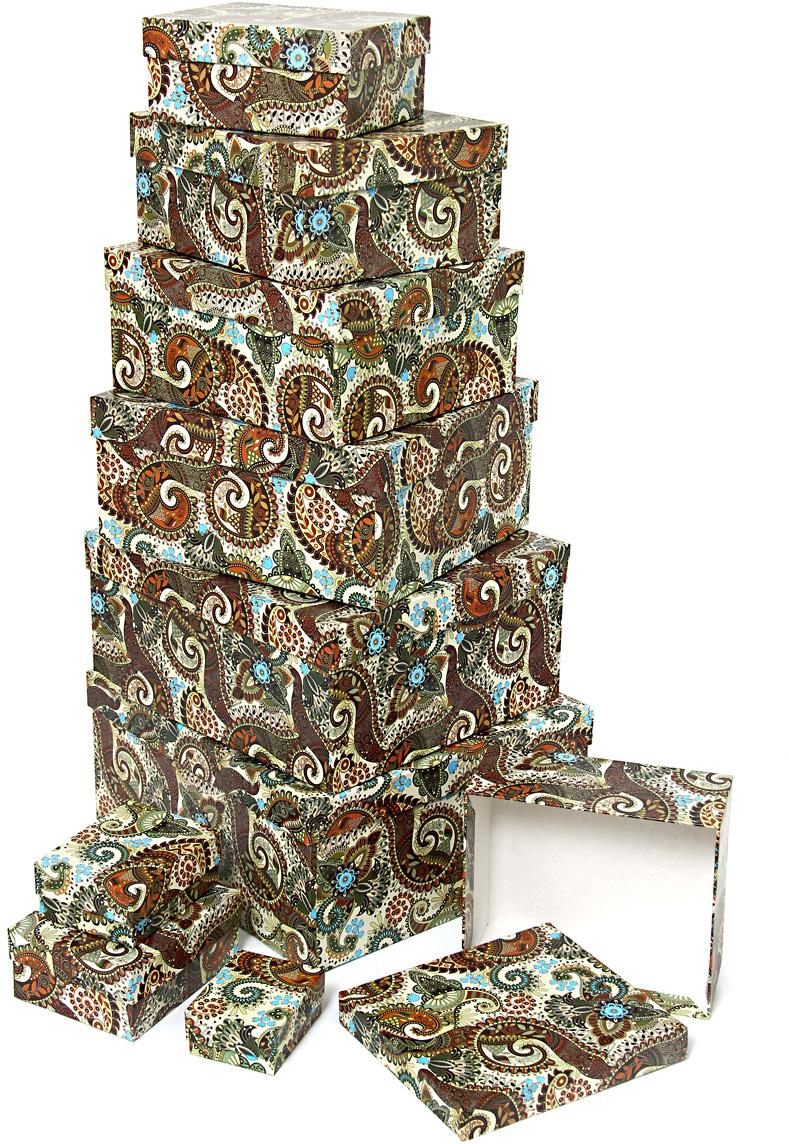 Набор подарочных коробок Veld-Co Персидские огурцы, 10 шт51220Подарочные коробки Veld-Co - это наилучшее решение, если выхотите порадовать ваших близких и создать праздничное настроение, ведь подарок, преподнесенный в оригинальной упаковке, всегда будет самым эффектным и запоминающимся. Окружите близких людей вниманием и заботой, вручив презент в нарядном, праздничном оформлении.