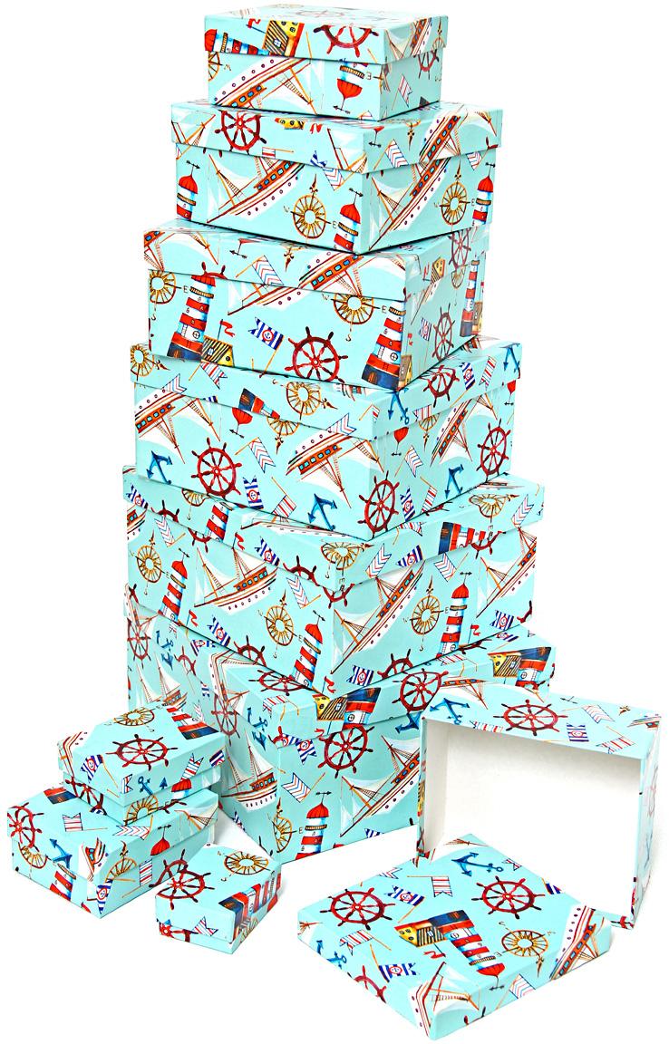 Набор подарочных коробок Veld-Co Морская гавань, 10 шт51223Подарочные коробки Veld-Co - это наилучшее решение, если выхотите порадовать ваших близких и создать праздничное настроение, ведь подарок, преподнесенный в оригинальной упаковке, всегда будет самым эффектным и запоминающимся. Окружите близких людей вниманием и заботой, вручив презент в нарядном, праздничном оформлении.
