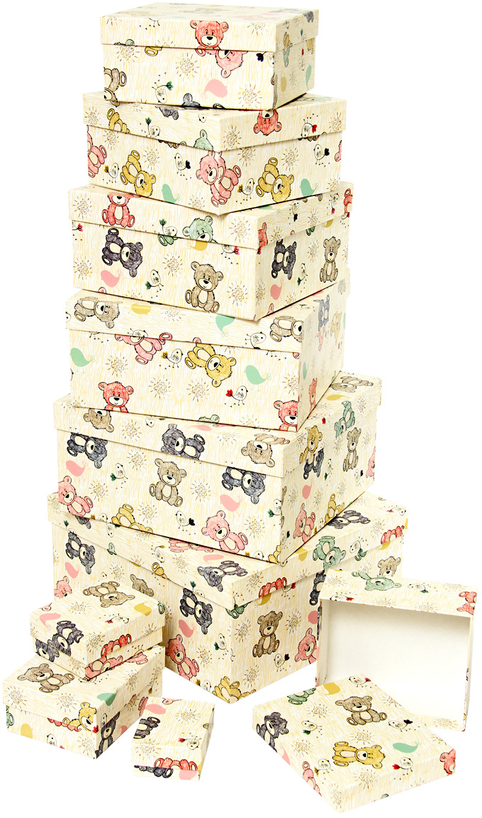 Набор подарочных коробок Veld-Co Мишки-малышки, 10 шт аксессуары veld co набор переводных татуировок черепа