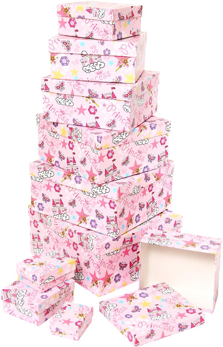 Набор подарочных коробок Veld-Co Замок принцессы, 10 шт набор подарочных коробок veld co чайные розы 10 шт