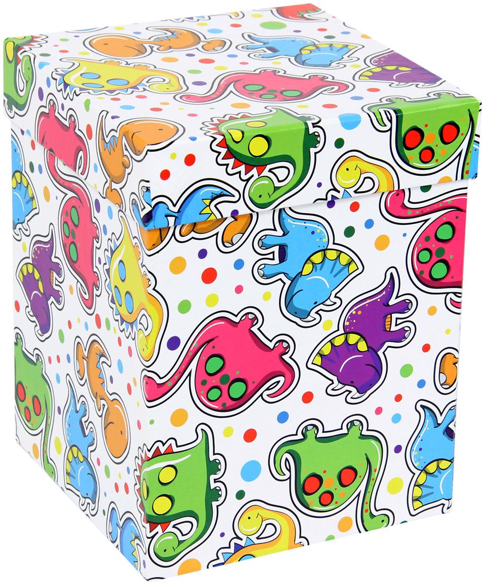 Набор подарочных коробок Veld-Co Динозаврики, под кружку, 2 шт набор подарочных коробок veld co цветочная абстракция кубы 3 шт 53452